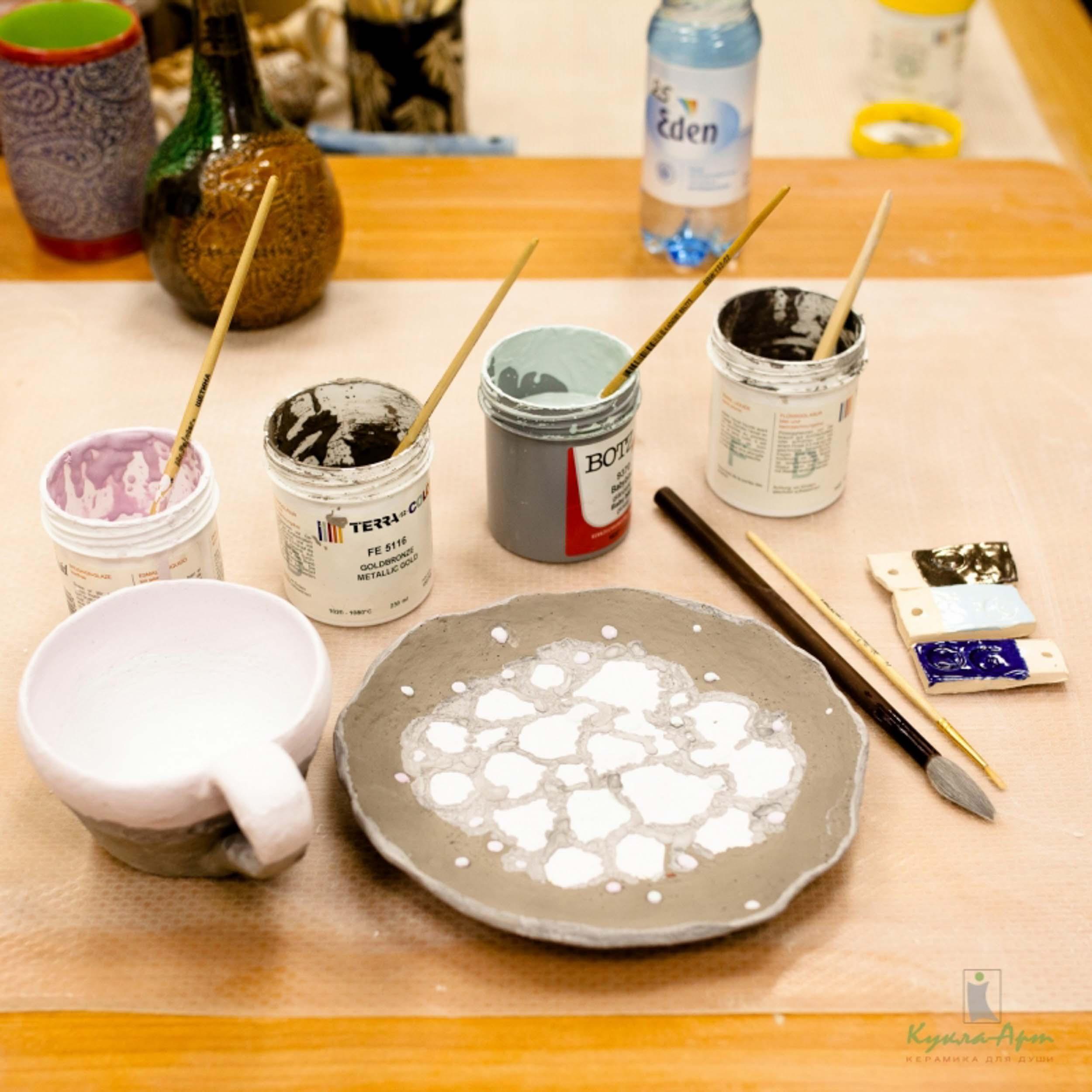Роспись керамики глузурями